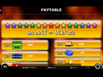 Joker 27 Go Paytable