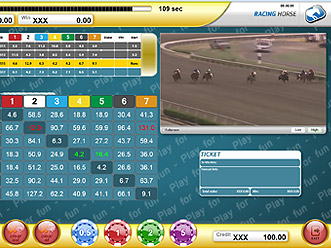 Racing Horses Classic Paytable